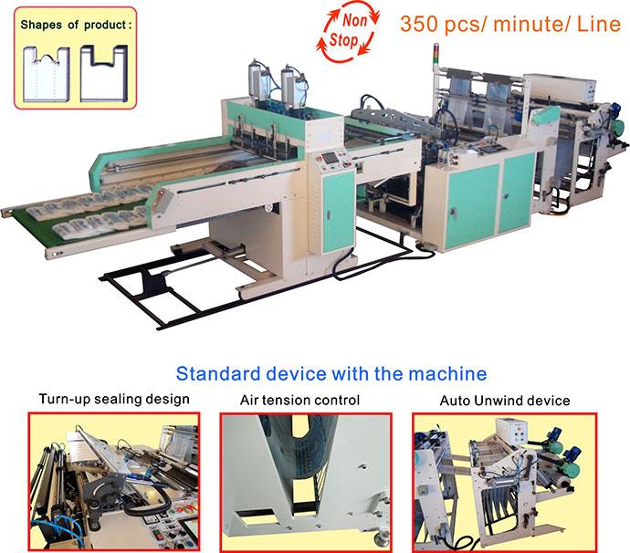 ... Machine Blown Film Machine Printing Machine Shopping Bag Making Machine T-Shirt  Bag Making Machine Bottom Machine Side Seal Bag Making Machine Poly Draw ...